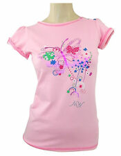 Matthew Williamson Pink T Shirt with Printed Butterfly Design Age 14
