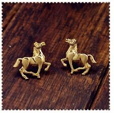 Galloping Horses Pony Animal Stud Earrings Gift Kawaii