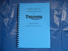 TRIUMPH PRE-WAR PARTS BOOK- PRICE LIST FOR 1932-33 SILENT SCOUT A,B, AND BS