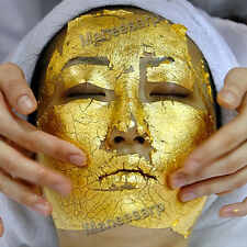 100pcs 24K GOLD LEAF ANTI WRINKLE FACIAL FACE SPA MASK LIFTS & FIRMS BRIGHT SKIN