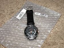 NEW NWT *NAUTICA* Men's Watch N14678G Chronograph $145 Black Leather