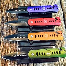 4PC Dealers Lot NEW! MILITARY Assorted Spring Assisted Open Pocket Knife Combat