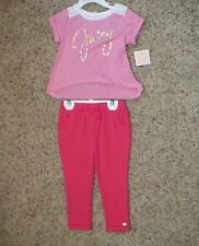 Juicy Couture Toddler Girls 2 Piece Legging Set Size 2T NWT