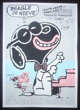 SNOOPY Signed Screenprint Poster Saluting Afro Cuban Singers + New U.S Cuba Ties