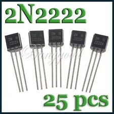 25X MOT/ON TO-92-3 PN2222A 2N2222 TRANSISTOR 40V 300MHz 600mA