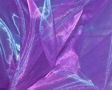 D23 Per Yard Blue Purple Crystal Organza Shiny Bridal Dress Decorative Material