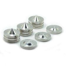 12Sets 49*37mm Acrolink Speaker Spike Isolation Steel Cone Amplifier Feet Base