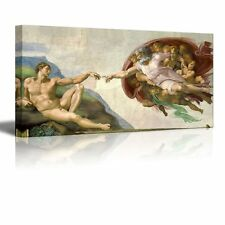"""Creation Of Adam by Michelangelo Giclee Canvas Prints Wrapped Wall Art-24"""" x 48"""""""