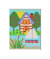 Summer At The Lake~Beaded Banner Pattern Only