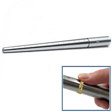 STEEL RING MANDREL GRADUATED 1-15 MARKED SIZER METAL JEWELRY SIZING TOOL STICK