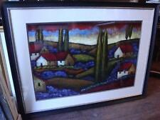 BEAUTIFUL SIGNED FRAMED ORIGINAL DELUXE TUSCANY PAINTING  SIMON DINKEVICH