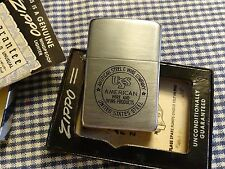 ZIPPO AMERICAN STEEL & WIRE COMPANY 3 BARREL LIGHTER 1940s PAT. 2032695