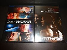 SPACE COWBOYS & MILLION DOLLAR BABY-2 DVDs-Clint Eastwood, Hilary Swank-Dramas