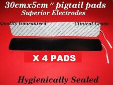 """4 12x2"""" Quality Tens machine compatible electrode pads amazing adhesion"""