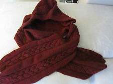 "Paul Smith ""MAINLINE"" LARGE CABLE KNIT HOODED WOOL SCARF Made in UK"