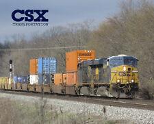 "CSX Intermodal 8"" x 10"" Sturdy Metal Sign Logo Photo"