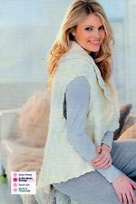 ~ Pull-Out Knitting Pattern For Lady's Lovely Gilet Jacket ~