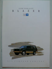 Prospekt 1993 Chevrolet Blazer, 1993, 12 Seiten