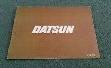 June 1978 DATSUN UK RANGE BROCHURE CHERRY SUNNY VIOLET BLUEBIRD LAUREL 280C 260Z
