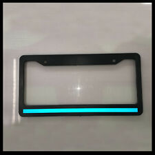 Blue Line License Plate thin Frame REFLECTIVE police tag holder safety