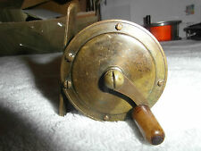 A1 vintage tiny brass slater crankwind style trout fly fishing reel 2""