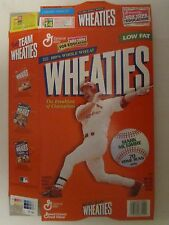 Empty WHEATIES Cereal Box 1998 MARK MCGWIRE 70 Home Runs 18 oz