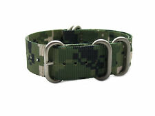 HNS ZULU Camouflage Desert Heavy Duty Diver Nylon Watch Strap 5 Matt Rings