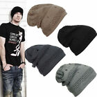 Unisex Men Women Winter Knit Crochet Beanie Warm Skull Cap Ski Hat Baggy Fashion