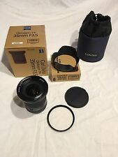 Contax 645 CARL ZEISS 35mm F3.5 con GB-101 Metal Hood e 95mm L39 UV-UK