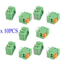 10Pcs KF141R-2P 2 Pin 2.54mm Pitch PCB Connector Spring Screless Terminal Blocks