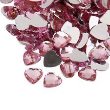 Heart Craft Gem Stickers Self Adhesive Flat Back Embellishment Phone Rhinestones