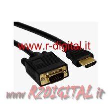 CAVO ADATTATORE MONITOR VGA 15P HDMI 19P MASCHIO MASCHIO GOLD M/M ALTA QUALITA