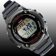 Casio WS200H-1AV Mens SOLAR POWER Watch 4 Alarms 100M WR World Time LED New