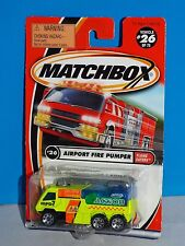 Matchbox 2001 Flame Eaters Series #26 Airport Fire Pumper Flor Yellow