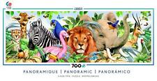 CEACO PANORAMIC LONG SHOTS JIGSAW PUZZLE EXOTIC ANIMALS 700 PCS #2904-8