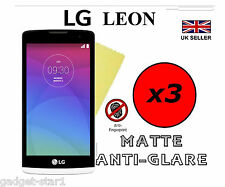 3x HQ MATTE ANTI GLARE SCREEN PROTECTOR COVER LCD GUARD FILM FOR LG LEON