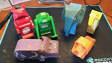 6 Lot of Vintage Painted Animal Toy's - wood with plastic tilting heads