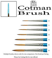 Winsor & Newton Cotman Watercolor Brush 4 Elongated Round Short Handle 5302004