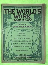 THE WORLD'S WORK & PLAY - Edwardian Shilling Monthly - Jan. 1905 - Henry Norman