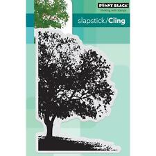 New Cling Penny Black RUBBER STAMP SHADE CANOPY LARGE TREE  free us ship