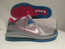 Nike Lebron 9 Low Wolf Grey/White-Dynamic Blue-Fireberry Size 12