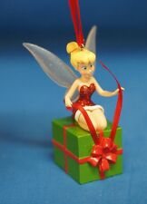 Santa Tinker Bell Wrapping a Gift Christmas Ornament Disney Store 2010 Peter Pan