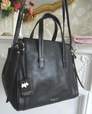 *Excellent* Radley Bedford Square Black Leather Multiway Shoulder Bag RRP £189