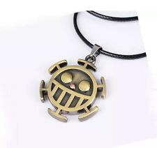 One Piece Trafalgar Law Logo Necklace Chain Pendant Anime Cosplay US Seller