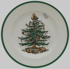 """SPODE Christmas Tree Pattern 10.5"""" Dinner Plate Set of 4 Plates MSRP $42 x 4 NWT"""