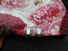 Macy's Marcasite Mother of Pearl Clip Fashion Earrings - Nice!