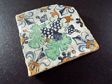 18th century dutch delft polychrome tile