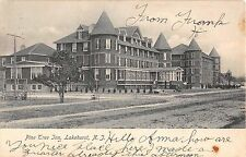 1907 Pine Tree Inn Lakehurst NJ post card linen