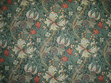 "WILLIAM MORRIS CURTAIN FABRIC ""Golden Lily Minor"" 3.5 METRES ARTICHOKE & VANILLA"