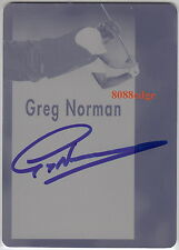 2012 LEAF ULTIMATE GOLF AUTO: GREG NORMAN #1/1 OF ONE AUTOGRAPH CYAN PRINT PLATE